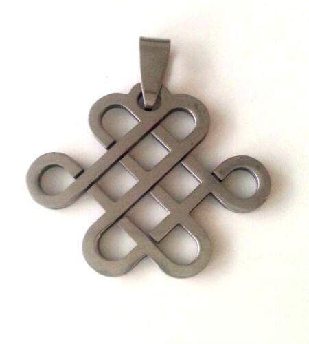 Nuevo bisutería cadenas remolque de acero inoxidable cadena colgante rejilla talla 28x33mm #025