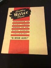 Very Rare Something Hitler Forgot Book Various Hands 1948 Washington DC Kaufmann
