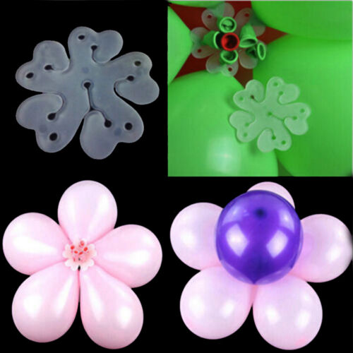 10pcs 6 in 1 Seal Clip Ballons Accessories Plum Flower Clip Sealing Clamp S!US