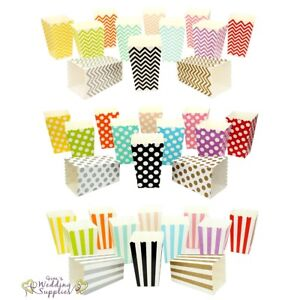 Mini-Popcorn-Boxes-x-12-Small-Little-Cardboard-Favor-Foldable-Retro-Cinema-Movie