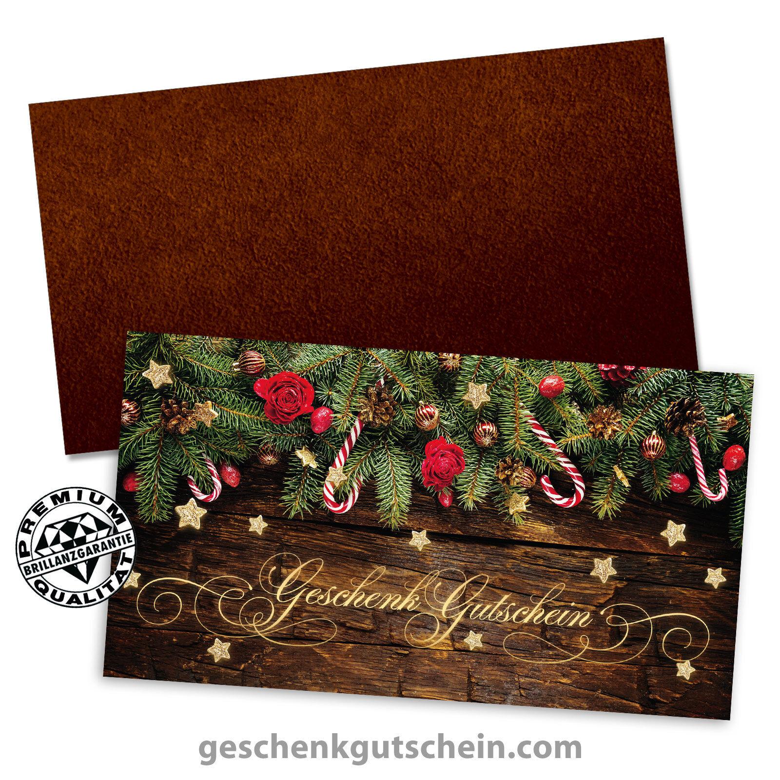 Weihnachts-Geschenkgutscheine mit KuGrüns für alle Branchen X1283