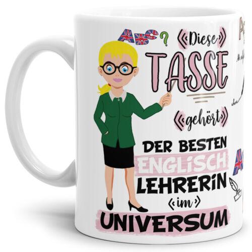 Geschenk Schule Abi Tasse für die beste Lehrerin im Universum