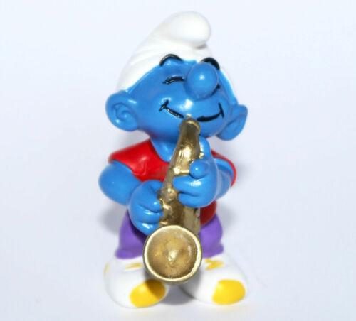 """/""""Saxophone Schtroumpf/"""" 20436 neuf-new-SMURF Perfect! /"""" Saxophone smurf/"""" #schleich"""