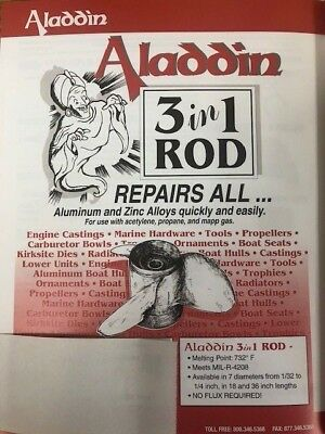 """ALADDIN WELDING PRODUCTS  31-AST  18/""""  3 IN 1 WELDING ROD"""