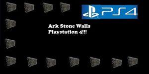 Ark Survival Evolved 200 Stone Walls Ps4 Playstation 4 Pve Ebay
