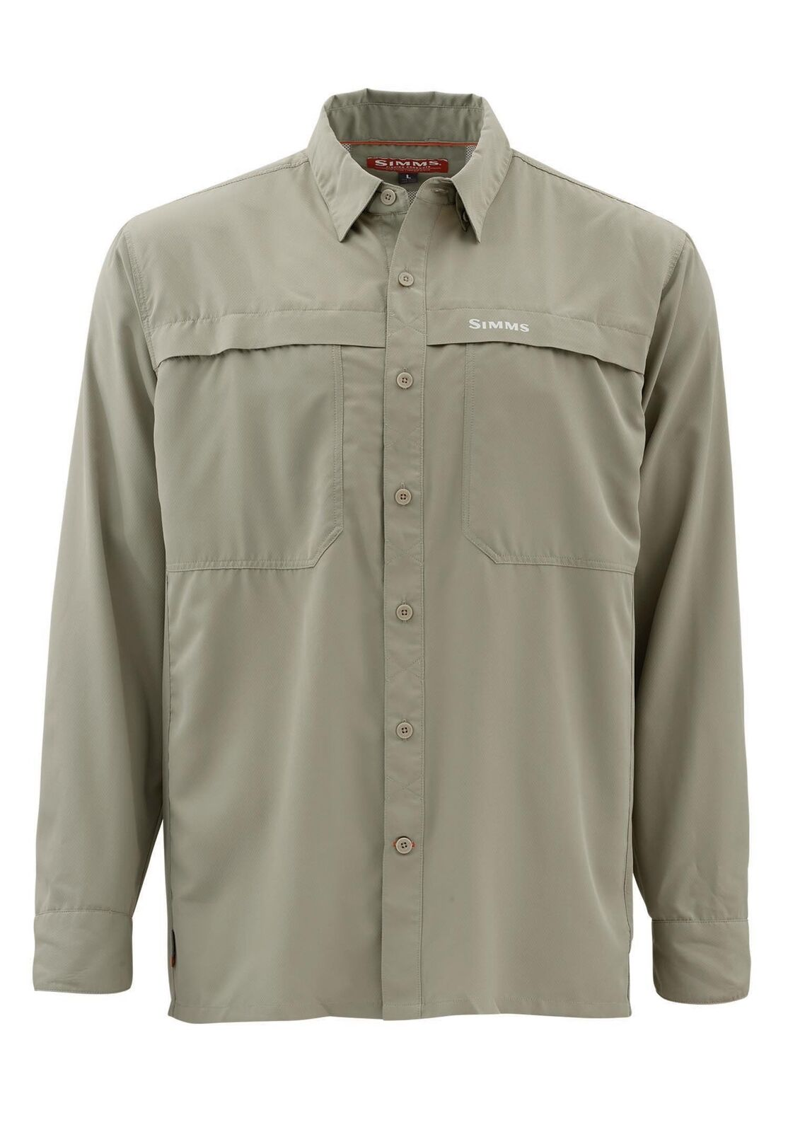 Simms Ebbtide Long Sleeve Shirt Dark Khaki - Size Small -CLOSEOUT