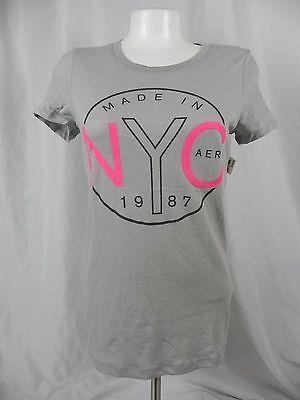 NEW Aeropostale Women/'s Black 1987 Sequin Embellished T-Shirt F1-14