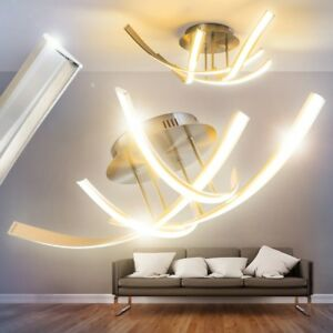 Dettagli su Plafoniera lampada LED Soggiorno Illuminazione salone Luce  salotto onde design