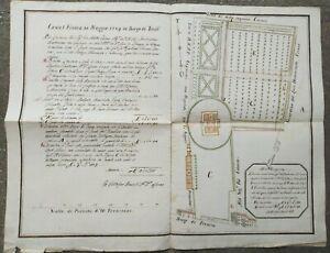 1789-SPLENDIDA-PIANTA-MANOSCRITTA-DI-BORGO-TREVISO-A-CASTELFRANCO-VENETO