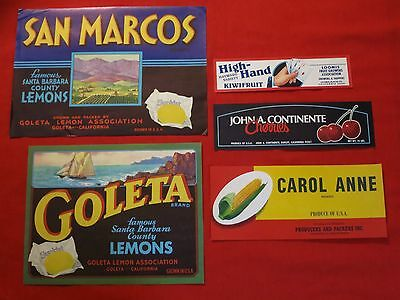 NOS VINTAGE Lot of 12 EAT WELL CHERRIES Cannery Labels Decoupage