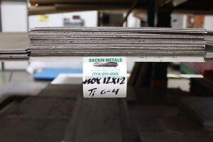"""Titanium Sheet 6AL-4V 12"""" x 12"""" x .080"""""""