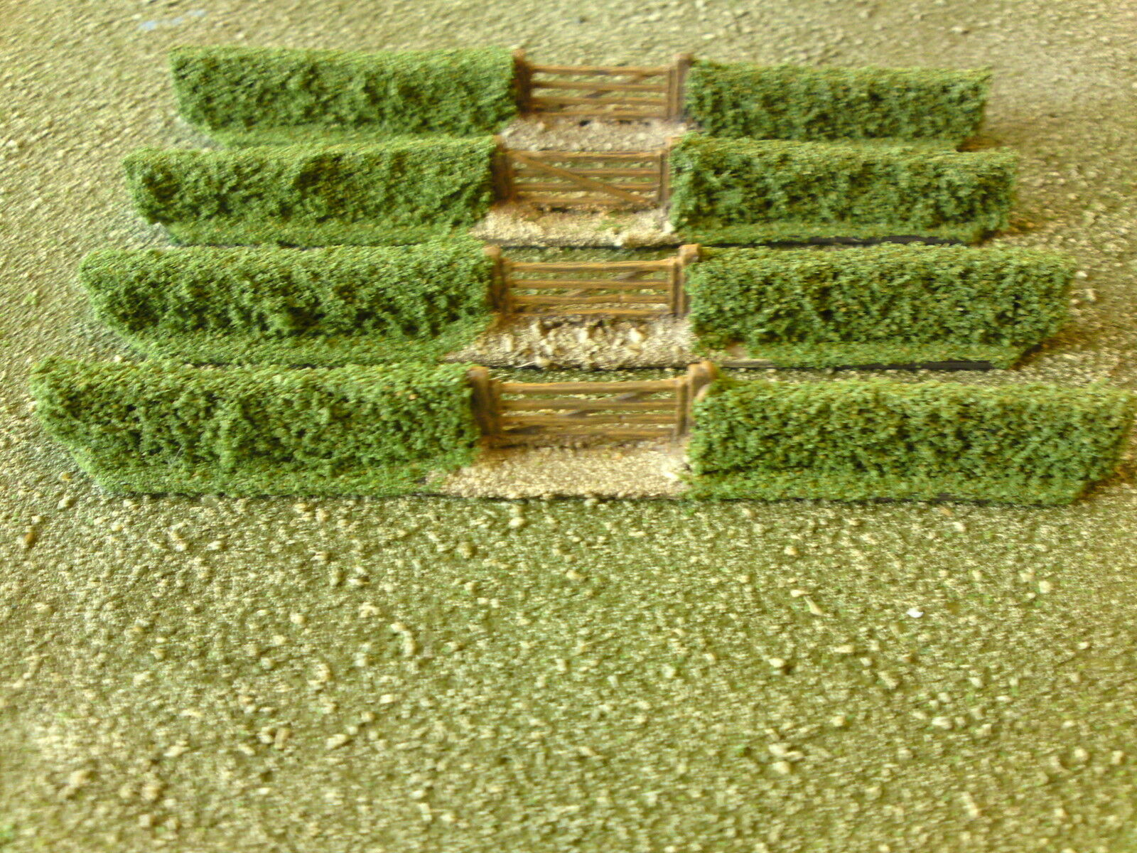 40 x 15mm pieces of hedging suitable for flames of war,FOG,ACW,ECW