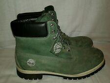 "Men Timberland 6"" Boots Nubuck Army Green Size 13"