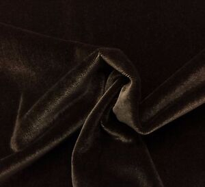 Beacon Hill Plush Mohair Espresso Brown Velvet Upholstery Fabric By