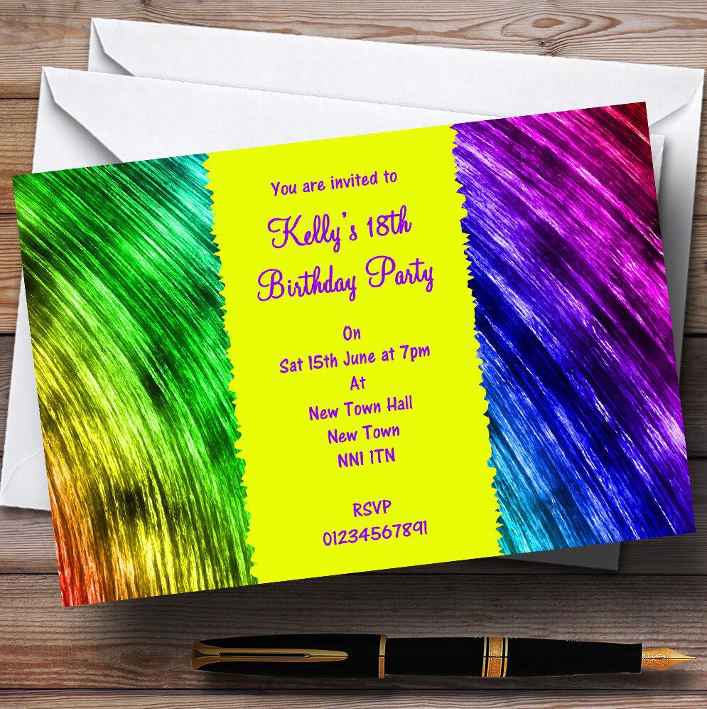 Une invitations nouvelle génération, nouvelle sélection! Rainbow peintures personnalisées invitations Une Fête 301537