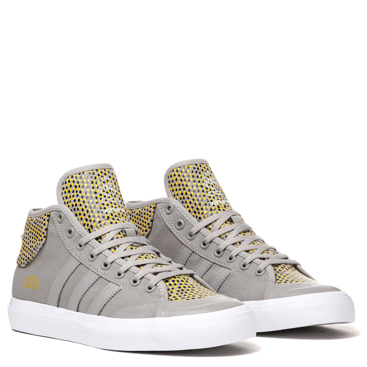 62a356820a Adidas Mens Matchcourt Mid ADV Trainers shoes Grey Mark Gonzo Retro to 12.5
