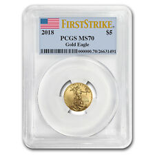 2018 1/10 oz Gold American Eagle MS-70 PCGS (First Strike)