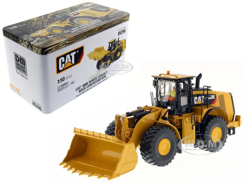 Cat Caterpillar 980K Cargador de rueda Rock configuración 1 50 Diecast Masters 85296