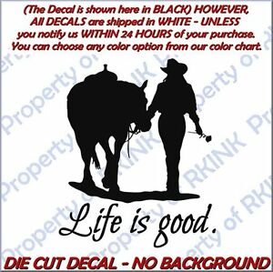 Inquiet Horse Cowgirl Girl Life Is Good #15 Vinyl Decal For Car Truck Window Wall Home Fabrication Habile