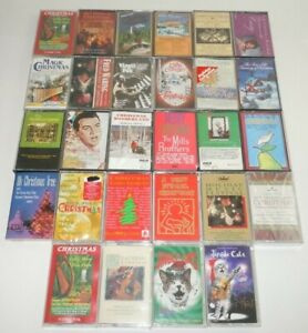 Christmas-Music-Cassette-LOT-28-Jingle-Cats-Country-Mills-Brothers-Fred-Waring