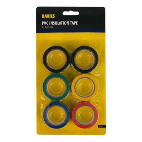 Lot de 6 rouleaux PVC Isolation couleurs brillantes retardateur de flamme bande 8M-NEUF