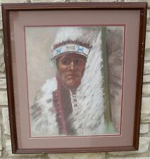 SOUTHWESTERN PAINTING PASTEL TERRY ZOIA NATIVE AMERICAN INDIAN