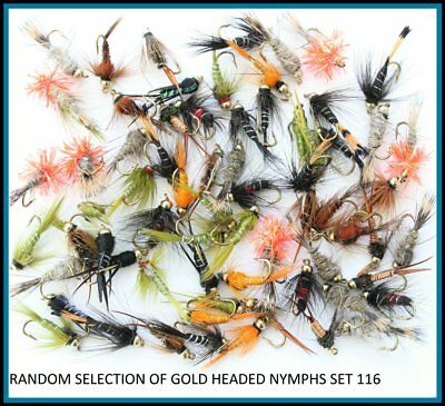 Nymphs S//S Fly Assortment Grando PIN Fry Buzzers Trout Fishing Flies