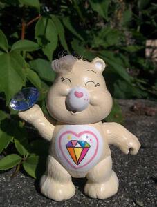 Vintage-1980s-SPARKLE-HEART-Poseable-CARE-BEARS-Figure-Kenner-3-034-Figure-White