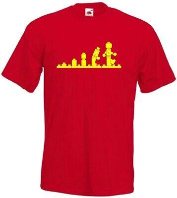 XXL Lego Evolution Sheldon Big Bang Geek  Funny  T Shirt Gift Sizes S