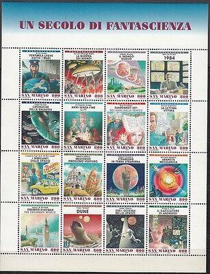 Reisen 1998 100 Jahre Science-fiction-literatur 1786/1801 **, Sanft San Marino 17697