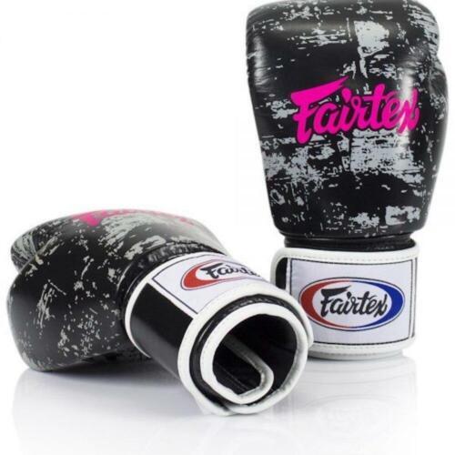 "Fairtex /""DARK CLOUD/"" Muay Thai Style Training Gloves BGV1"