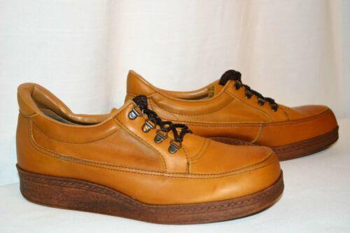 MENS VINTAGE 1970s Sz 11 D Brown Leather Platform