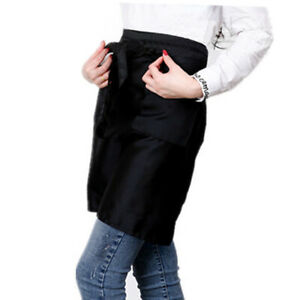 Waitress-Waiter-Cooking-Oil-Proof-Breathable-Apron-Kitchen-Apron-With-Pocket-CY2