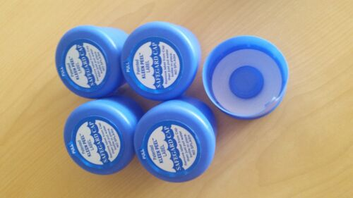 Lot 100, 3 & 5 Gallon Water Bottle Snap Cap Anti Splash 55mm Kleen Peel Off Top