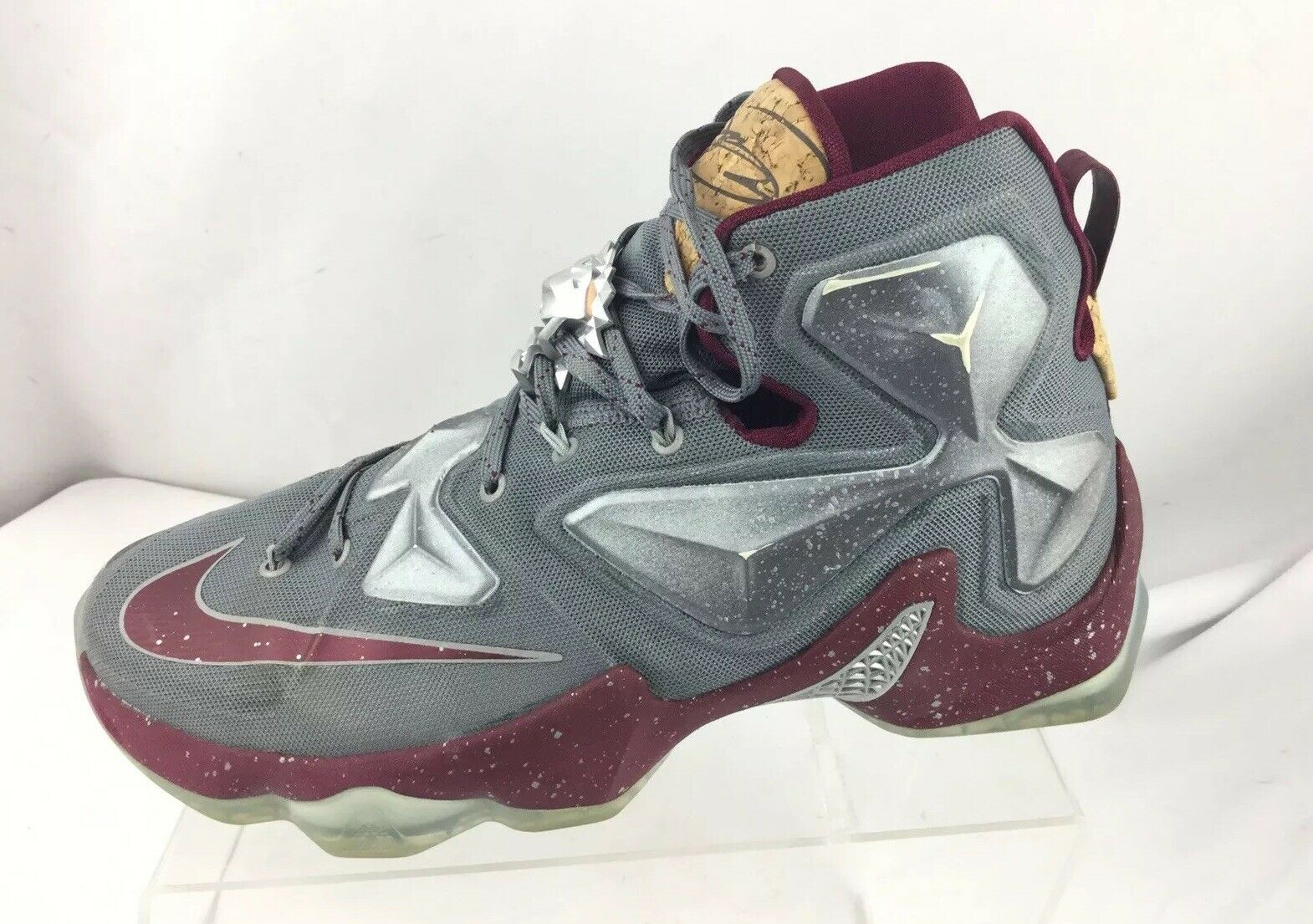 NIKE MEN BASKETBALL SHOES LEBRON XIII 13 LIMITED 823300 060 GREY GARNET 9