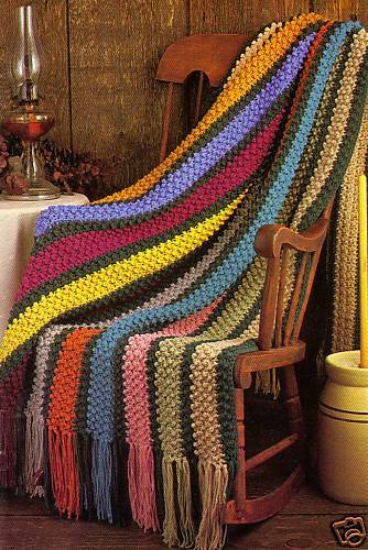 PRETTY Autumn Afghan//Crochet Pattern INSTRUCTIONS ONLY