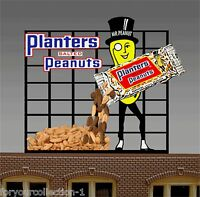 Miller Engineering Planters Peanuts Animated Neon Sign O/ho Scale 7061