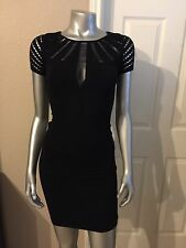 100% AUTHENTIC NWT BEBE PEEK-A-BOO SHOULDER DETAIL DRESS SIZE  P/S