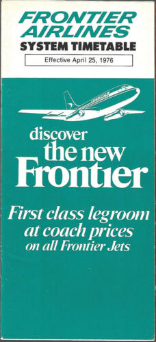 Frontier Airlines system timetable 42576 7125