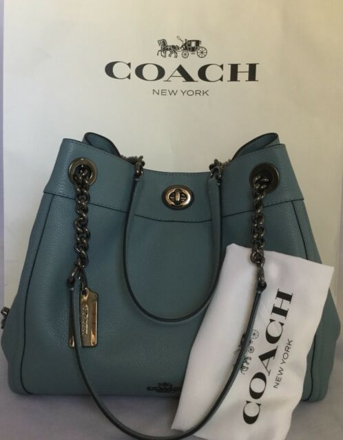 54f11b4a0 Coach 36855 Edie Turnlock Pebbled Leather Shoulder Bag 395 Cloud for ...