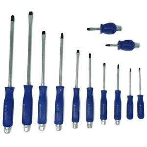 Magnetic Screwdriver Set w// Impact Bolster handle heavy duty Screwdrivers