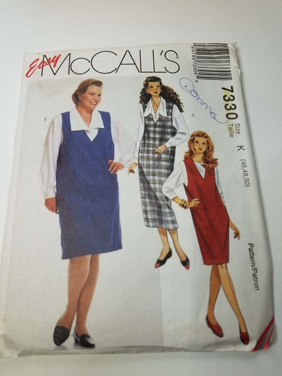 8 Styles 46, 48 Size XXL McCalls Sewing Pattern 8575 Mens Buttoned Shirts