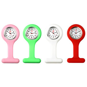 Nurse Watch Pin Brooch Hanging Lapel Watch Silicone Jelly Cover Fob Pocket Watch