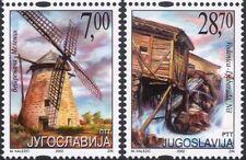 Yugoslavia 2002 Windmills/Water Mills/Buildings/Architecture 2v set (s1876)