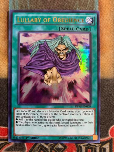 Yugioh Lullaby of Obedience DPRP-EN009 Ultra Rare 1st Edition