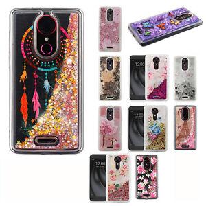 For-T-Mobile-Revvl-Plus-Liquid-Glitter-Quicksand-Hard-Case-Phone-Cover-Accessory