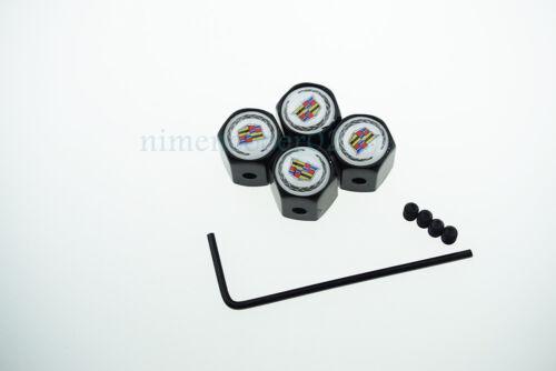 4Pcs Car Styling Anti-theft Wheel Tire Valve Stems Caps Valve Stems For Cadillac