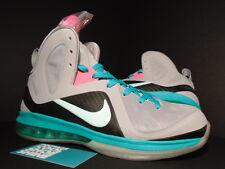 Nike Air Max LEBRON IX 9 P.S. PS ELITE SOUTH BEACH PRE-HEAT MIAMI GREY PINK NEW