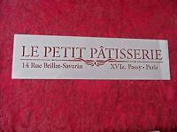 Stencil - Le Petit Patisserie Word Art Stencil 11 X 3