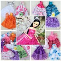 Mode  Kleider & Bekleidung und Kleid für Barbie-Puppe  Hochzeit Party Kleid